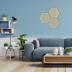 hexagon wanddecoratie